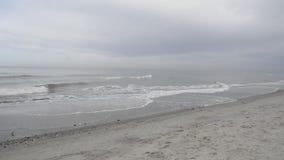 View on the Baltic Sea Jastrzebia Gora, Poland. View on the Baltic Sea from the beach in Jastrzebia Gora in cloudy day Poland stock footage