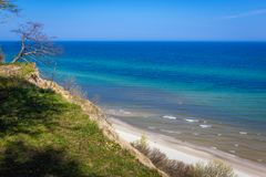Northernmost point of Poland. View on Baltic Sea from cliff in Jastrzebia Gora village, Poland Stock Photography