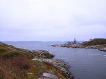 View at the Baltic sea shore. Near Helsinki, Suomenlinna, Finland Royalty Free Stock Image