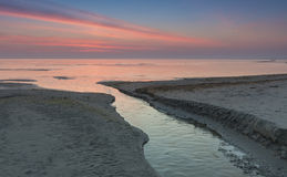 View on the Baltic Sea at sunrice Stock Images