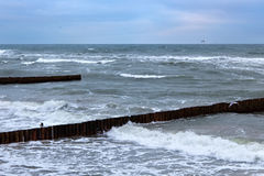 View of the Baltic Sea in the winter. Royalty Free Stock Image