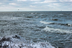 View of the Baltic Sea in the winter. Royalty Free Stock Photography