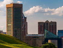 View of the Baltimore skyline from Federal Hill. royalty free stock photography