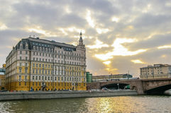 View on Baltschug Kempinski Hotel in Moscow Royalty Free Stock Images