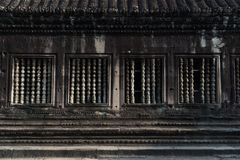 View of balustrade inside an Angkor Wat in Siem Reap, Cambodia. View of the balustrade inside an Angkor Wat in Siem Reap, Cambodia stock photo
