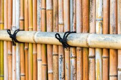 View of the bamboo fence in Kyoto, Japan. Close-up. royalty free stock photography