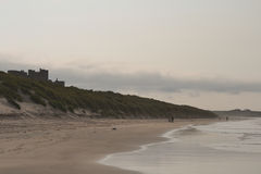 View of Bamburgh Castle, Northumberland Stock Photos