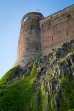 View of Bamburgh Castle, Northumberland, UK. Royalty Free Stock Photography