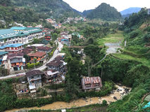 View of Banaue valley in Ifugao, Philippines Stock Photo