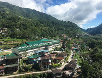 View of Banaue village in Ifugao, Philippines Royalty Free Stock Image