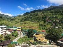 View of Banaue village in Ifugao, Philippines Stock Photos