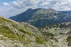 View from Banderitsa pass to Todorka peak,  Pirin Mountain Royalty Free Stock Image