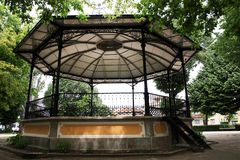 Bandstand gazebo. View of a bandstand gazebo on a public park of Portugal Royalty Free Stock Photo