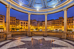 View from bandstand on Plaza del Castillo in Pamplona Stock Photography