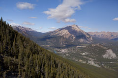 View of banff town alberta Royalty Free Stock Photography