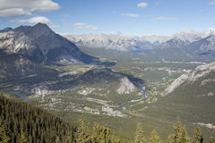 View of banff town alberta Royalty Free Stock Photo