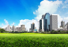 Green city. A view of Bangkok (The capital of Thailand) from Lumphini Park Royalty Free Stock Photo