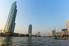 View of Bangkok from Chao Phraya river Stock Image