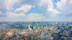View of Bangkok City with clouds Stock Photos