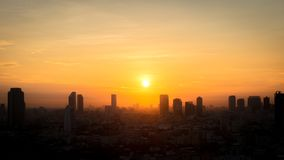 View of Bangkok city in the morning. Beautiful view of Bangkok city in the morning Royalty Free Stock Photo