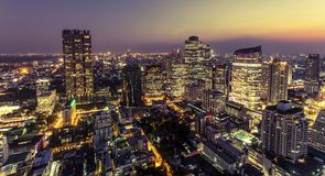 View of Bangkok city at night Stock Photo