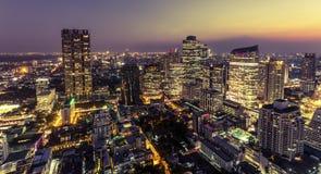 View of Bangkok city at night Stock Photo