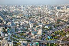 View of Bangkok city roads Stock Photography