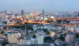 View of Bangkok city at twilight Stock Photos