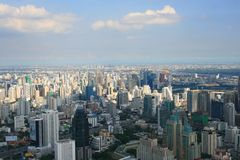View of Bangkok with clouds. View from Bangkok's tallest building Royalty Free Stock Image