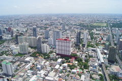 View of Bangkok from the eighty-fourth floor Stock Photos