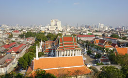 View of Bangkok from Golden Mount Royalty Free Stock Image