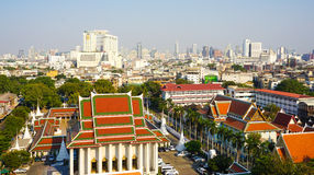 View of Bangkok from Golden Mount Royalty Free Stock Images