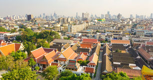 View of Bangkok from Golden Mount Royalty Free Stock Photography