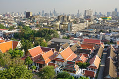 View of Bangkok from Golden Mount Stock Image