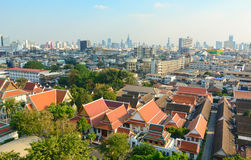 View of Bangkok from Golden Mount Stock Photo