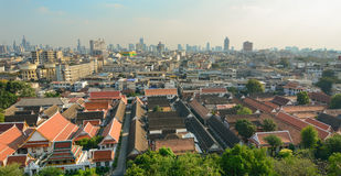 View of Bangkok from Golden Mount Royalty Free Stock Photo