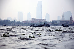 A view from bangkok. Hazy and stagnant air Stock Images