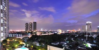 View of Bangkok at night Royalty Free Stock Images
