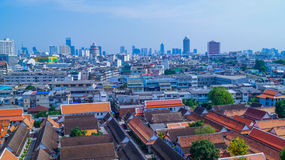 View from Bangkok´s temple Stock Photography