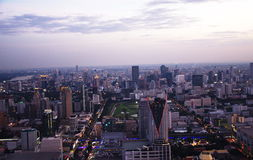 View of Bangkok skyline in the eneing Royalty Free Stock Image