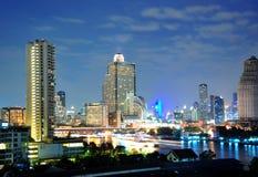 View of Bangkok Thaksin bridge Stock Photos