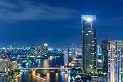 View of Bangkok city nights Stock Image