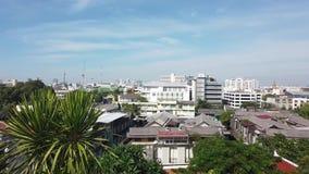 Bangkok On top of wat sraket rajavaravihara The golden mountain stock video footage