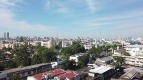 Bangkok On top of wat sraket rajavaravihara The golden mountain stock video