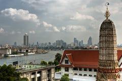 View of Bangkok from War Arun, Thailandia. stock photos