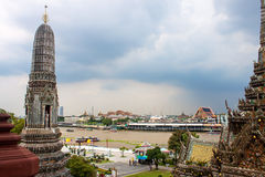 View of Bangkok from Wat Arun Stock Photo
