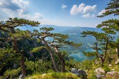 View from Banjska stena on Drina river, Serbia Royalty Free Stock Photos
