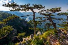 View from Banjska stena on Drina river, Serbia Stock Images