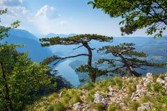 View from Banjska stena on Drina river, Serbia Royalty Free Stock Images