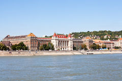 View on the bank of danube river in budapest Stock Image